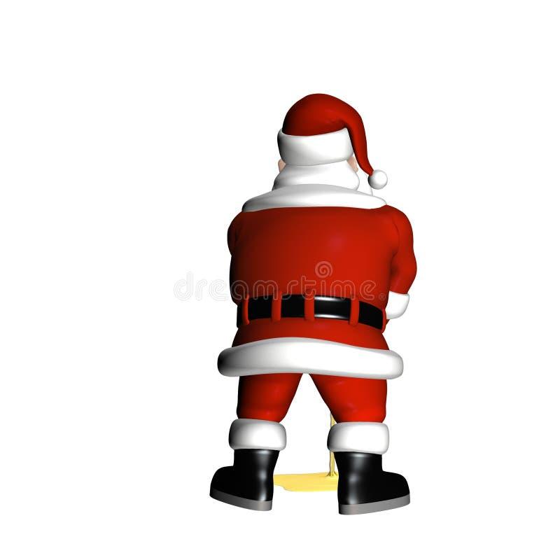 Santa faisant pipi illustration de vecteur
