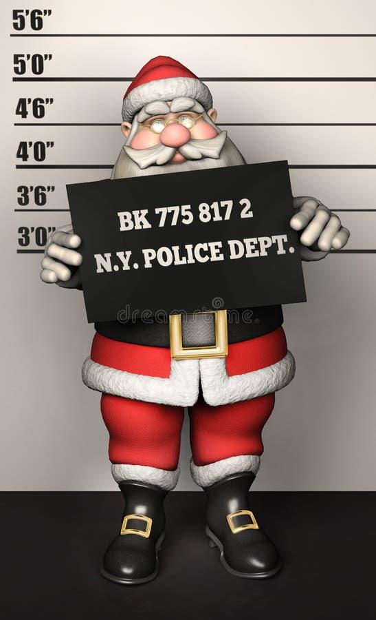 Santa Father Christmas-Verbrecherfoto vektor abbildung