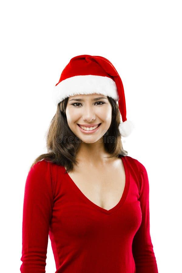 Santa faz uma apresentação imagem de stock royalty free