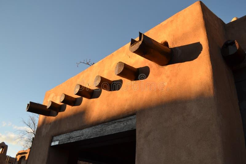 Santa Fe Adobe Architecture stock image