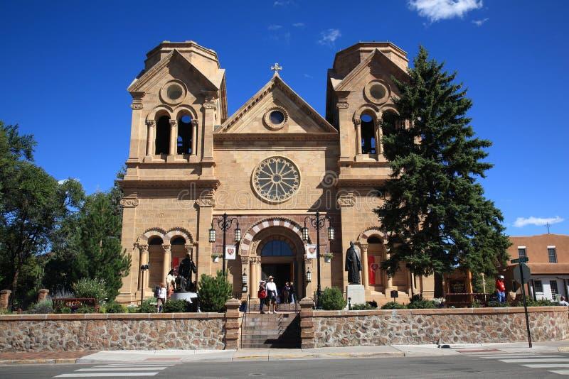 Santa Fe - basilique de rue Francis d'Assisi images libres de droits