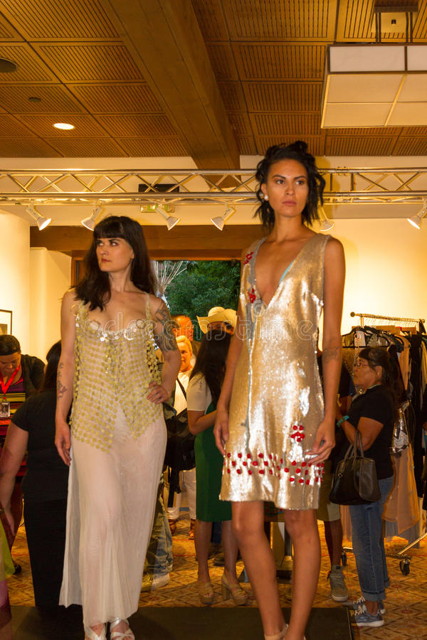 Santa Fe Indian Market Couture arkivbild