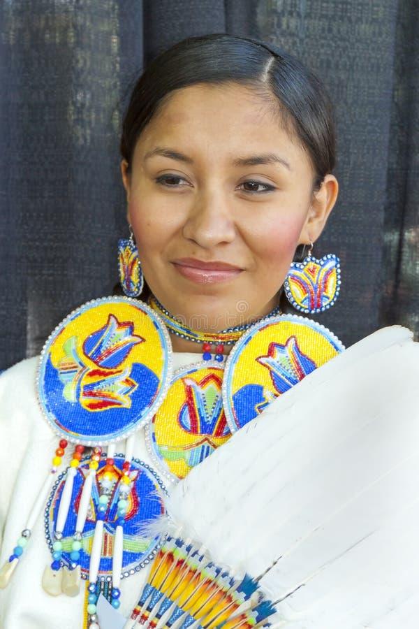 Santa Fe Indian Market, Natif américain, jeune femme, nouveau Mexic image libre de droits
