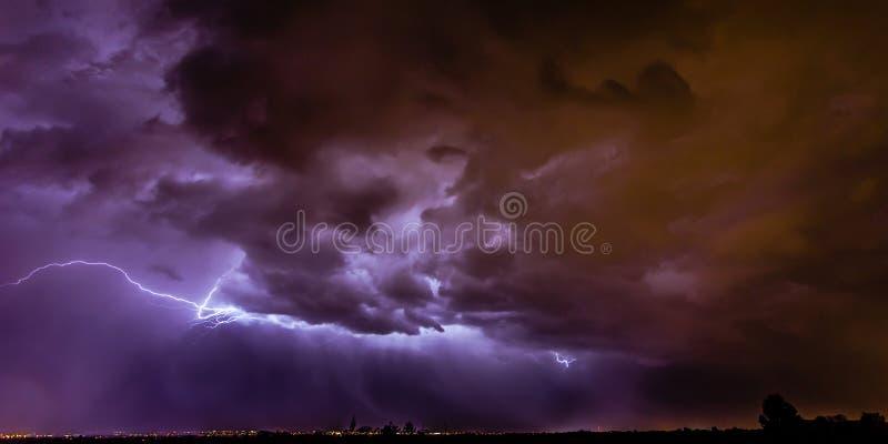Santa Fe Lightning stockfotografie