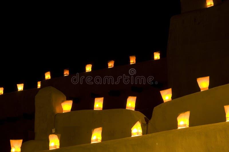 Santa Fe Luminarios imagen de archivo libre de regalías