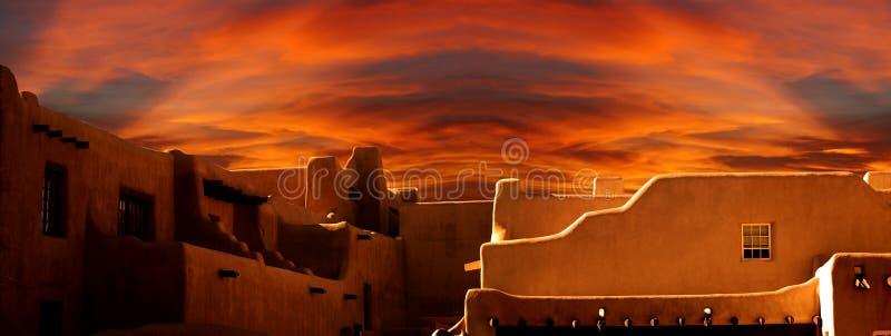 Santa Fe Museum av konst som är ny - Mexiko arkivbilder