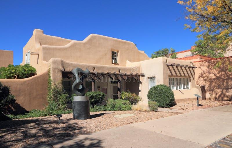 Santa Fe, New Mexico: Historisch Hewitt-Huis stock foto