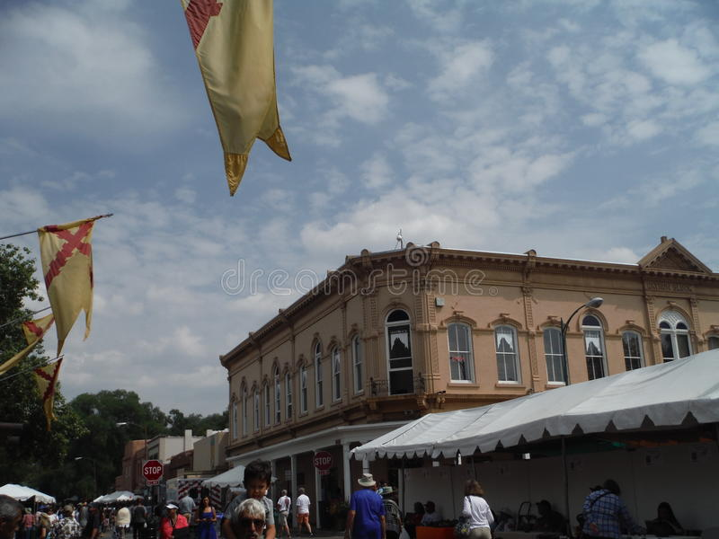 Santa Fe New Mexico Indian Market 2015 stock photos