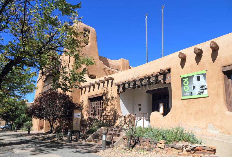 Santa Fe, New Mexico: Museum van Kunst 1917 stock foto