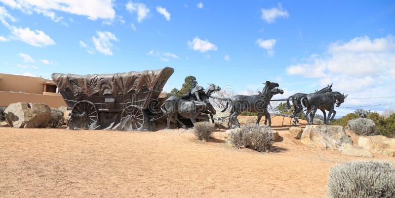 Santa Fe, Nowy/- Mexico: Rzeźbi na Muzealnym wzgórzu - podróży ` s końcówka zdjęcia royalty free
