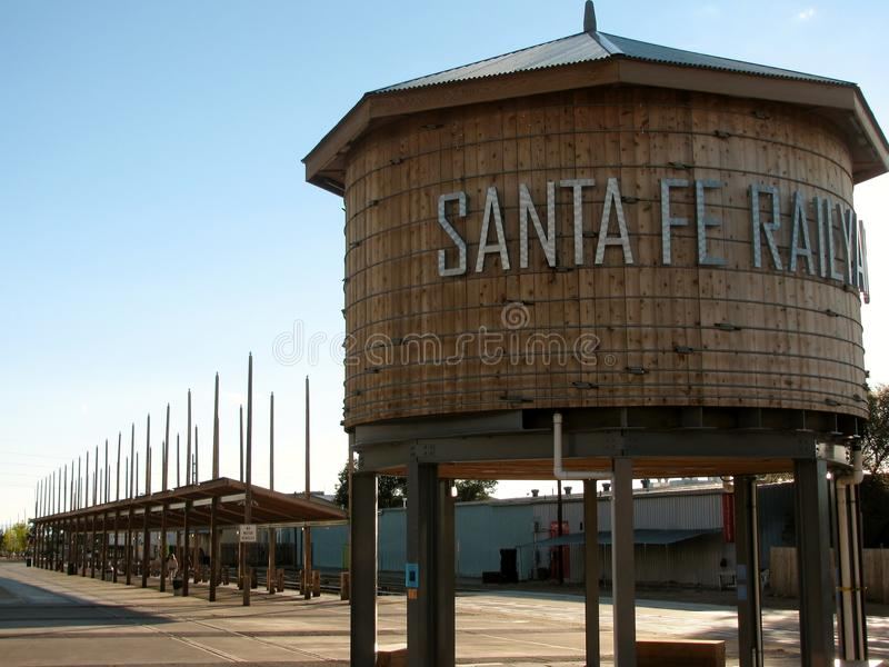 Santa Fe Railyard Public Space Santa Fe, New Mexico royalty-vrije stock afbeelding