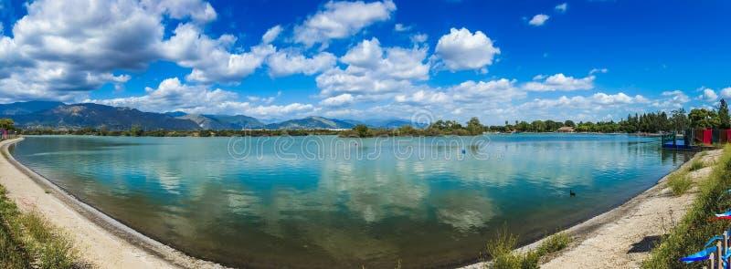 Santa Fe Reservoir Panorama fotografia de stock royalty free