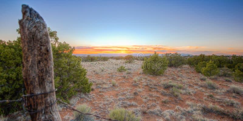 Santa Fe Sunset lizenzfreie stockbilder