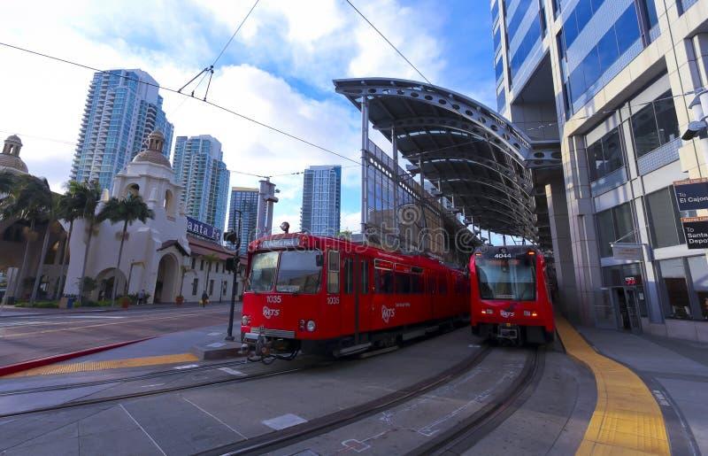 Santa Fe Trolley Station Shot, San Diego fotografia stock libera da diritti
