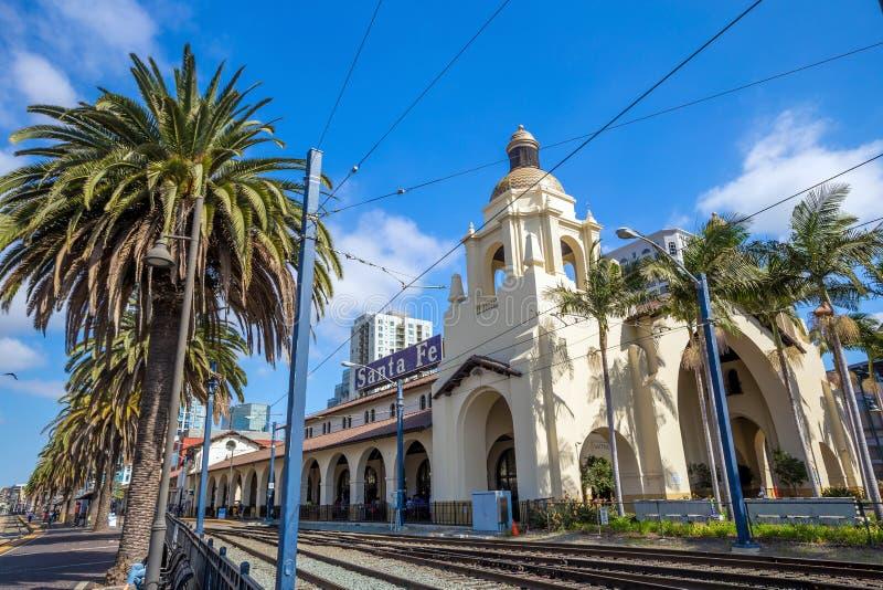Santa Fe Union Station a San Diego fotografia stock libera da diritti