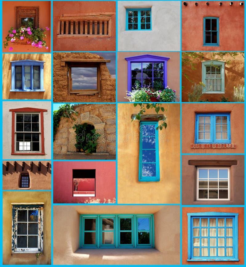 Santa Fe Windows stock image