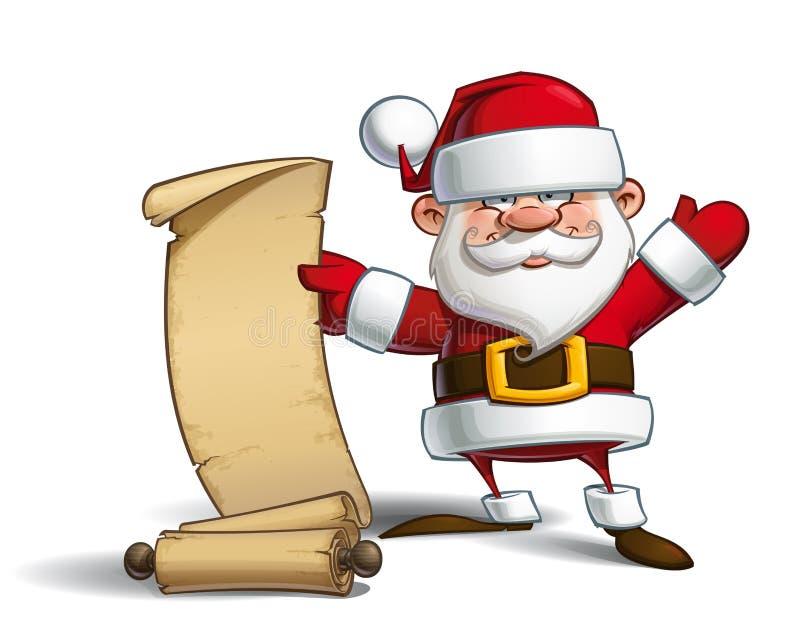 Santa felice - lista di regalo royalty illustrazione gratis