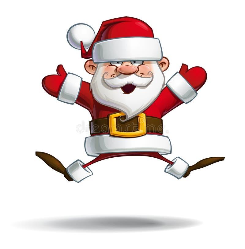 Download Santa Felice - Mani Aperte Del Paracadute Illustrazione Vettoriale - Illustrazione di claus, ridere: 56884781