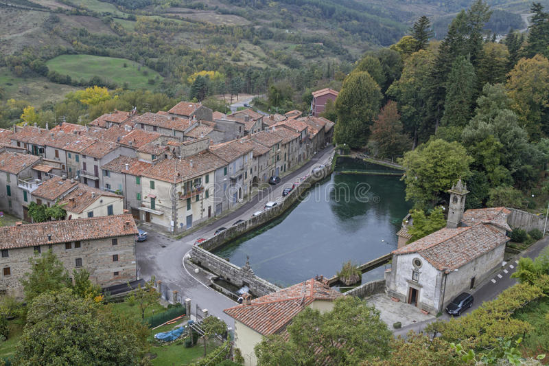 Santa Fiora - La Peschiera; stockbilder