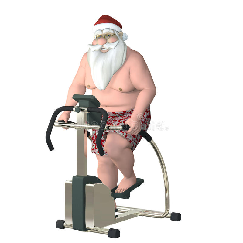 Santa Fitness - Stair Stepper royalty free illustration