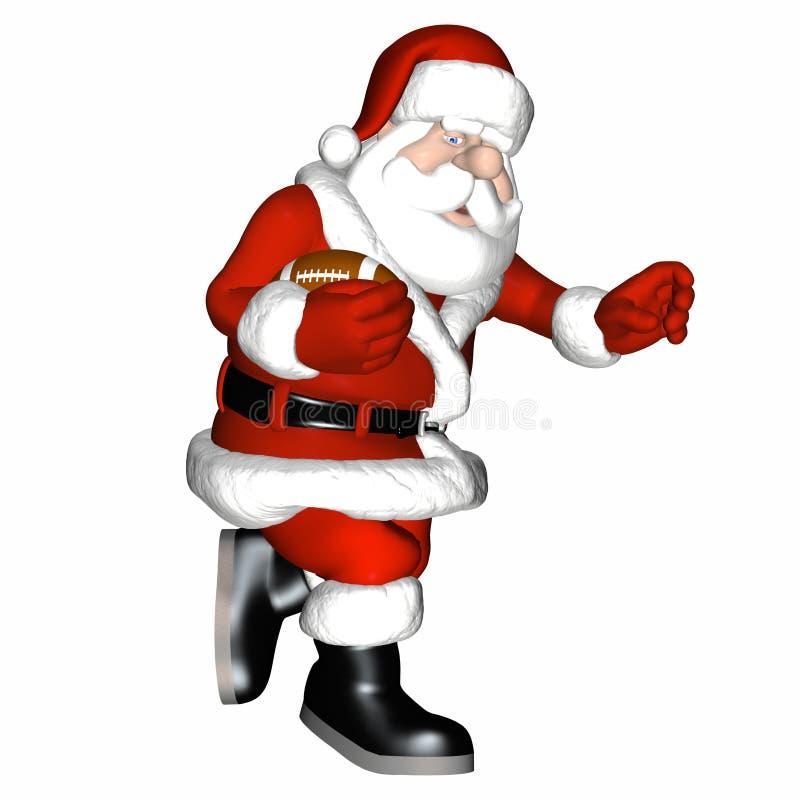Santa Football 1 Royalty Free Stock Images