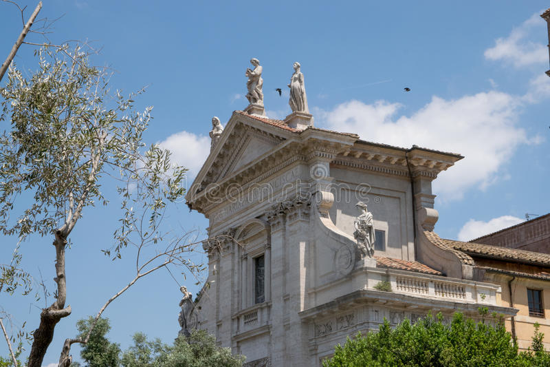 Santa Francesca Romana em Roma fotografia de stock