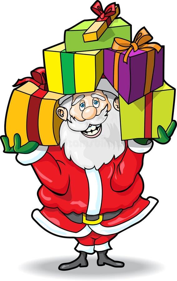Santa with Gifts royalty free illustration