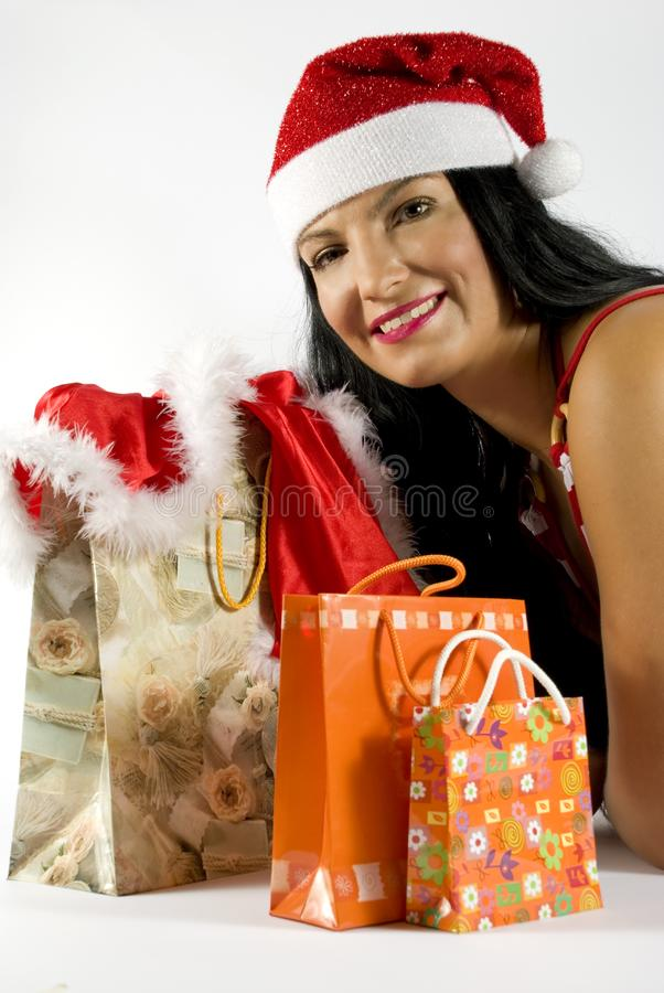 Santa with gifts for Christmas royalty free stock image
