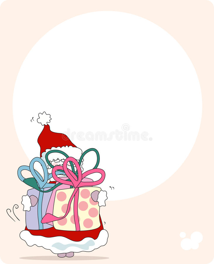 Download Santa With Gifts. Greeting Card Stock Vector - Image: 10547839