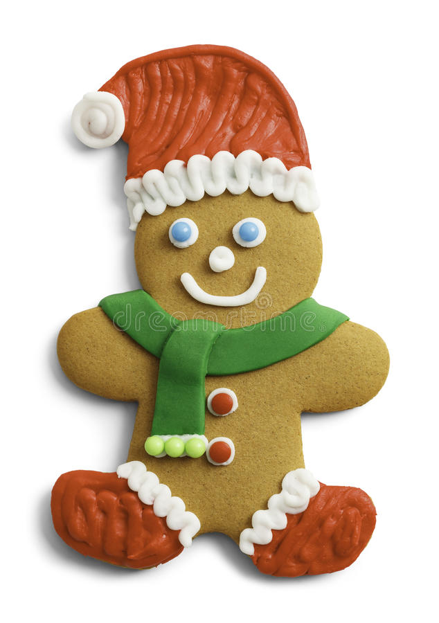 Santa Gingerbread Cookie fotografia stock