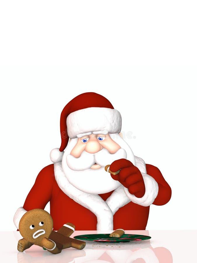 Download Santa In Gingerbread Man Attack Stock Illustration - Illustration: 11263702