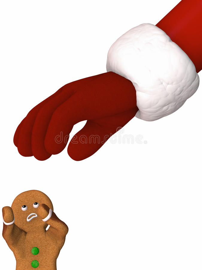 Download Santa In Gingerbread Man Attack Stock Illustration - Image: 11263707