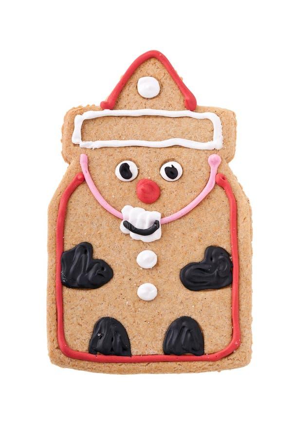 Santa Gingerbread Man cookie royalty free stock photo