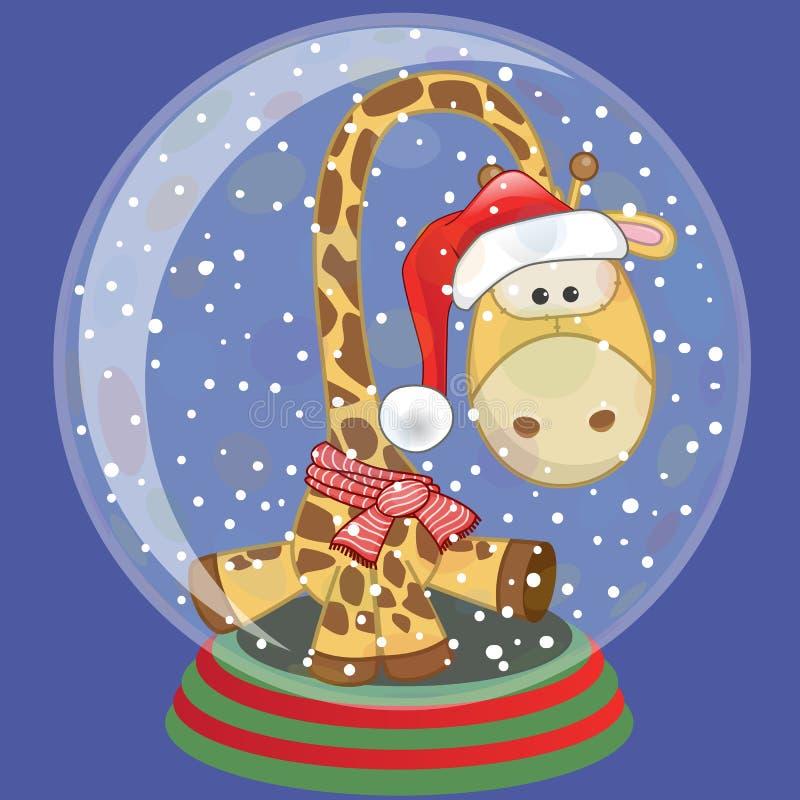 Santa Giraffe illustration de vecteur