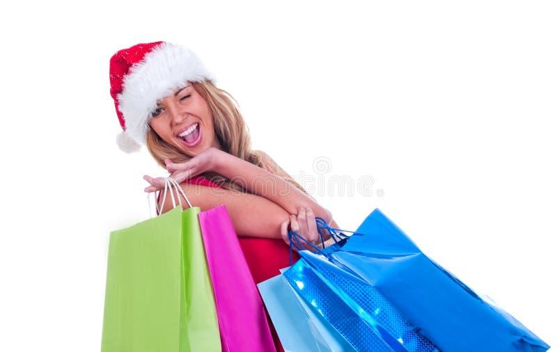 Santa girl stock photos