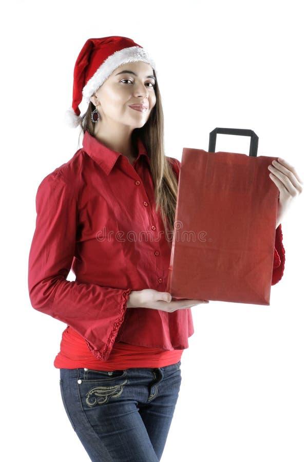 Santa Girl stock image