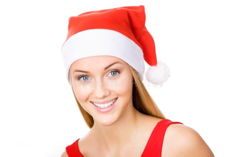 Download Santa girl stock image. Image of casual, christmas, give - 27434919