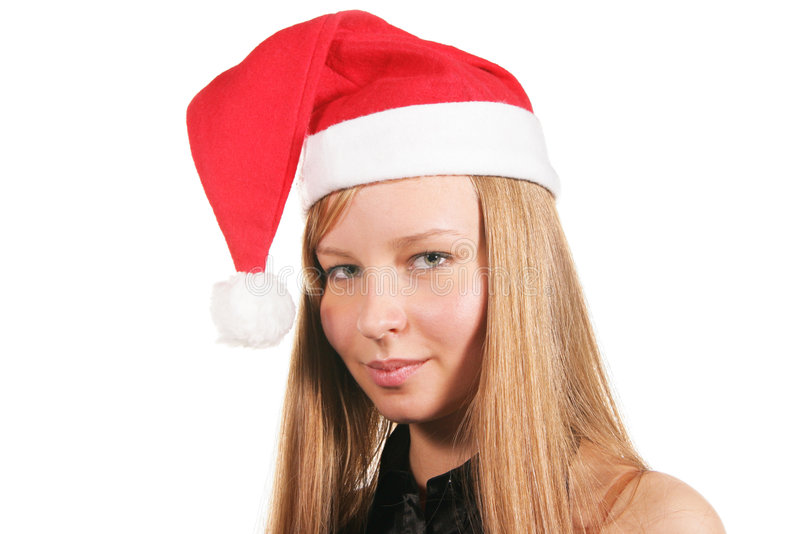Download Santa girl stock photo. Image of isolated, attractive - 3466652