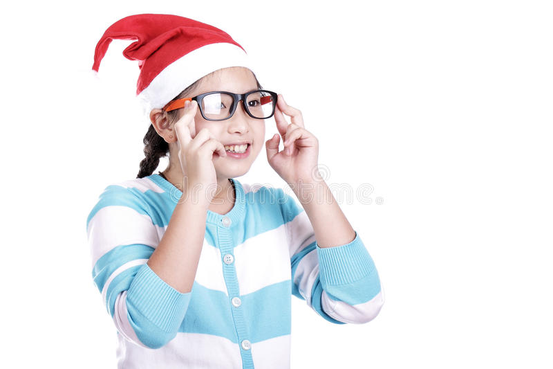 Santa Girl fotografie stock libere da diritti