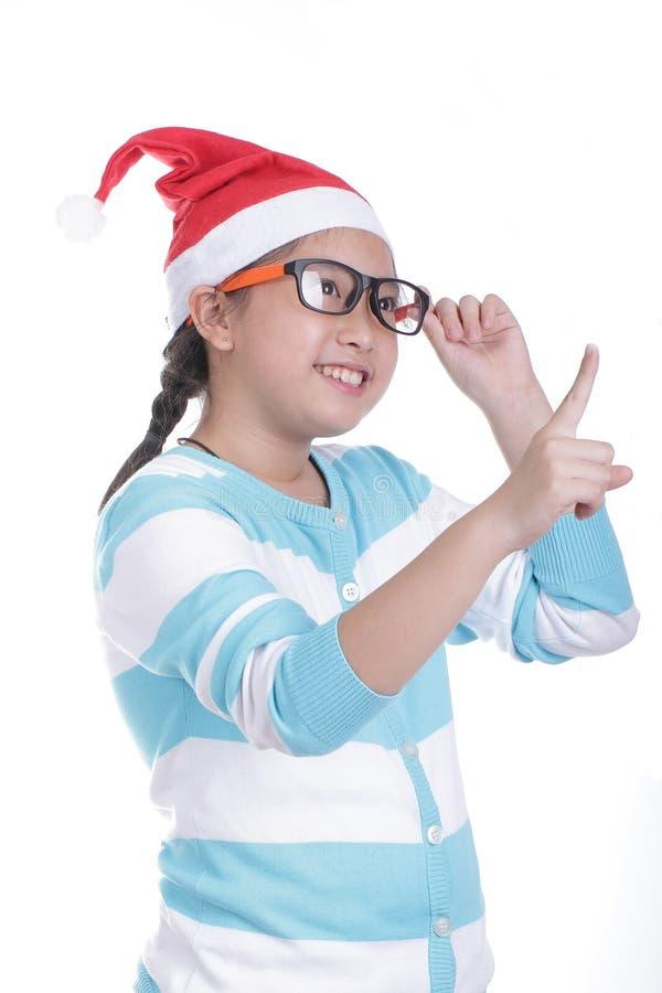 Santa Girl stockbilder