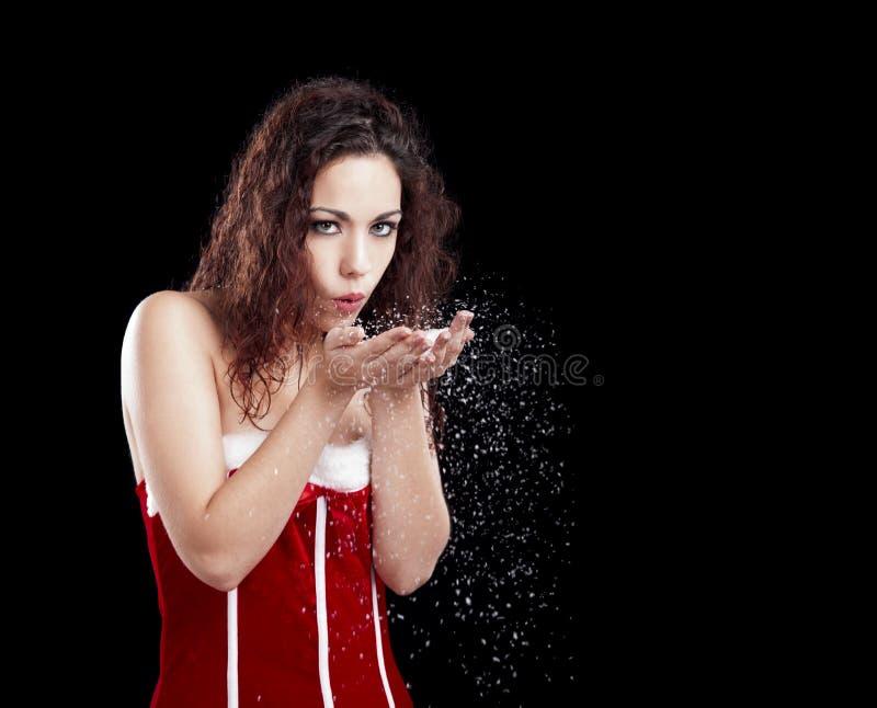 Santa Girl fotografia stock libera da diritti