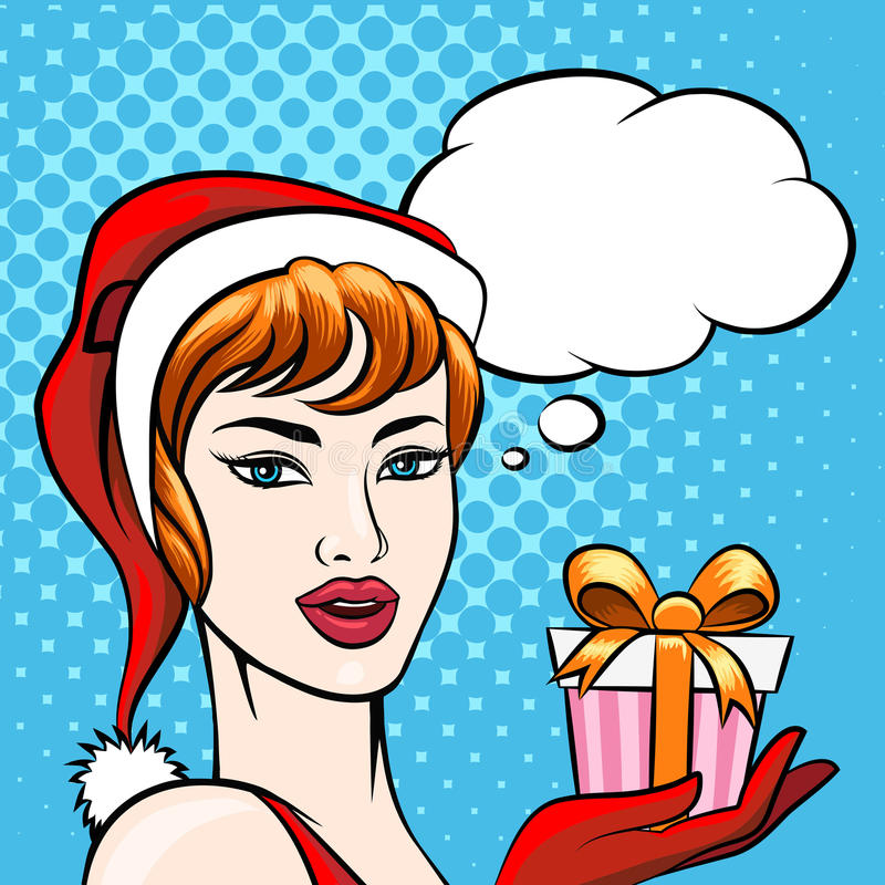 Santa Girl vector illustratie