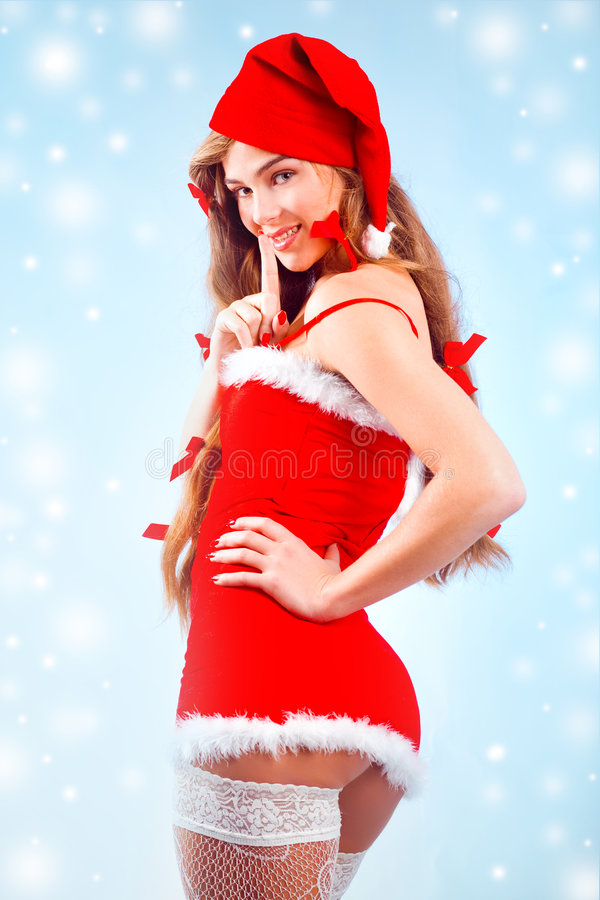Free Santa Girl Royalty Free Stock Photos - 7041718