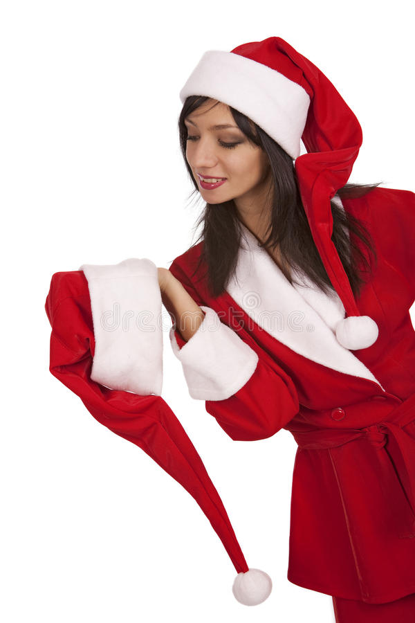Download Santa Girl Appeal To Xmas Hat Stock Photo - Image: 17405602