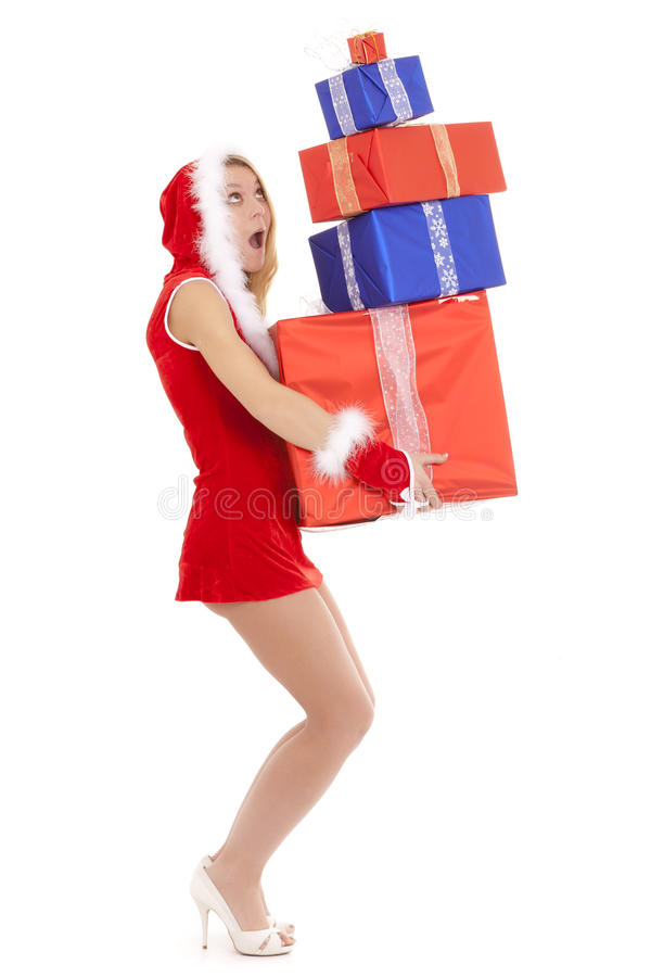 Download Santa girl overloaded stock photo. Image of beautiful - 17462574