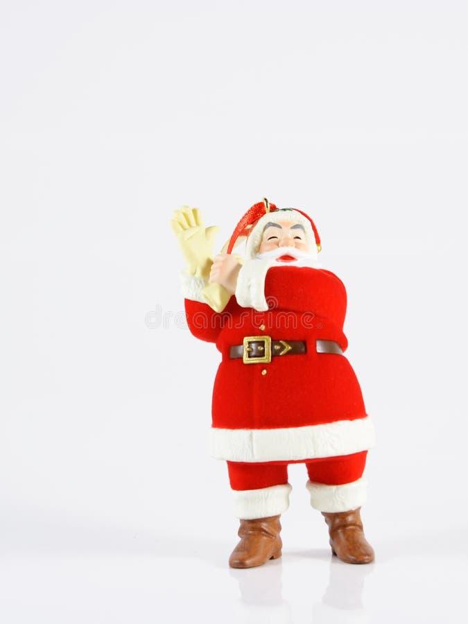 Santa giving you a hand stock photo