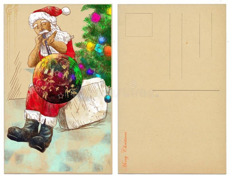 Santa glassblower royalty ilustracja