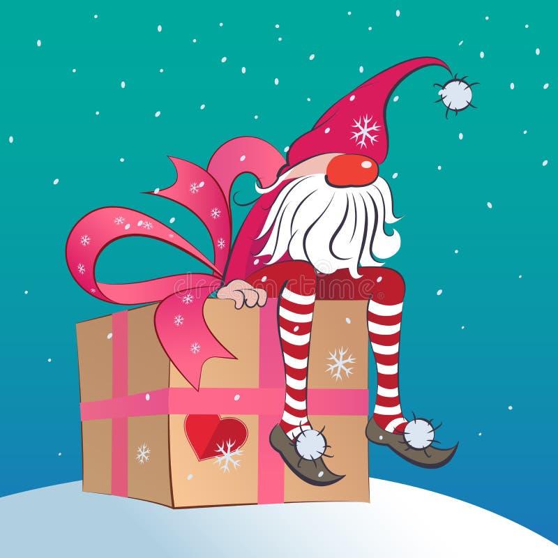 Santa Gnome vector illustratie