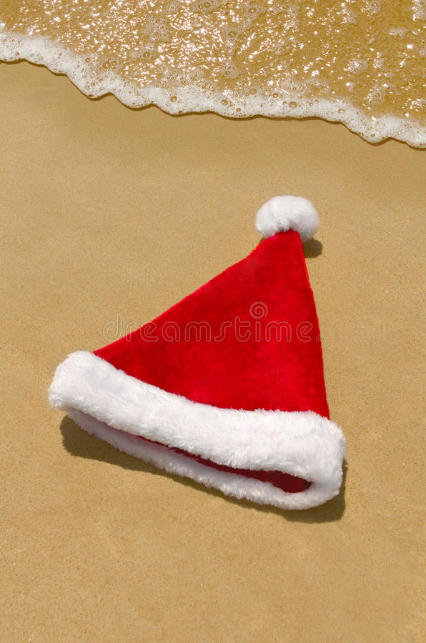 Download Santa goes for a swim stock image. Image of post, ocean - 27755221