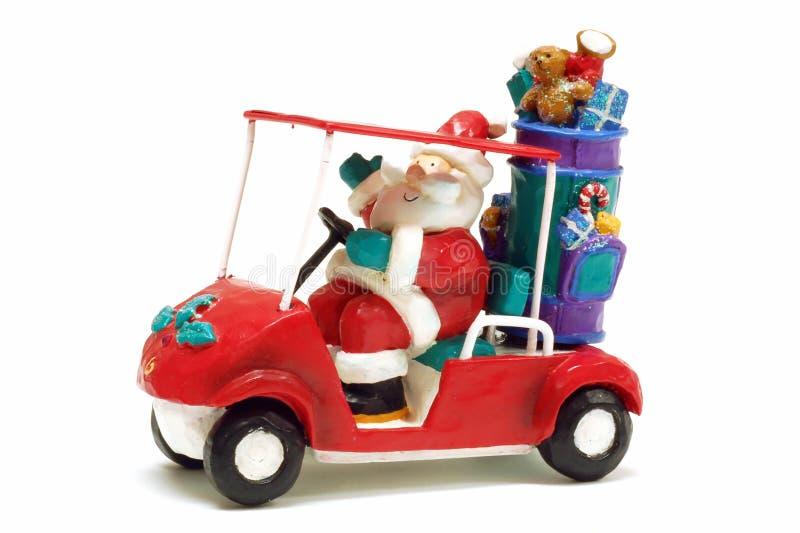 Santa Golfing fotografia de stock